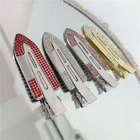 accesorios para el cabello retro lujo metal flash rhinestone sin costura flequillo pinza de pelo al por mayor nihaojewelry NHYQ220130's discount tags