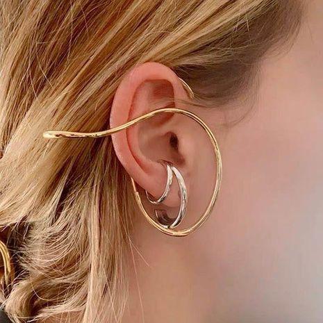 single clip earrings  geometric lines retro exaggerated ear bone clip auricle ear hook ear clip no pierced wholesale nihaojewelry NHYQ220147's discount tags