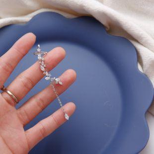 single clip earrings  Korea new ear clips fairy earrings ear bone clips wild micro-set temperament earrings wholesale nihaojewelry NHYQ220171's discount tags