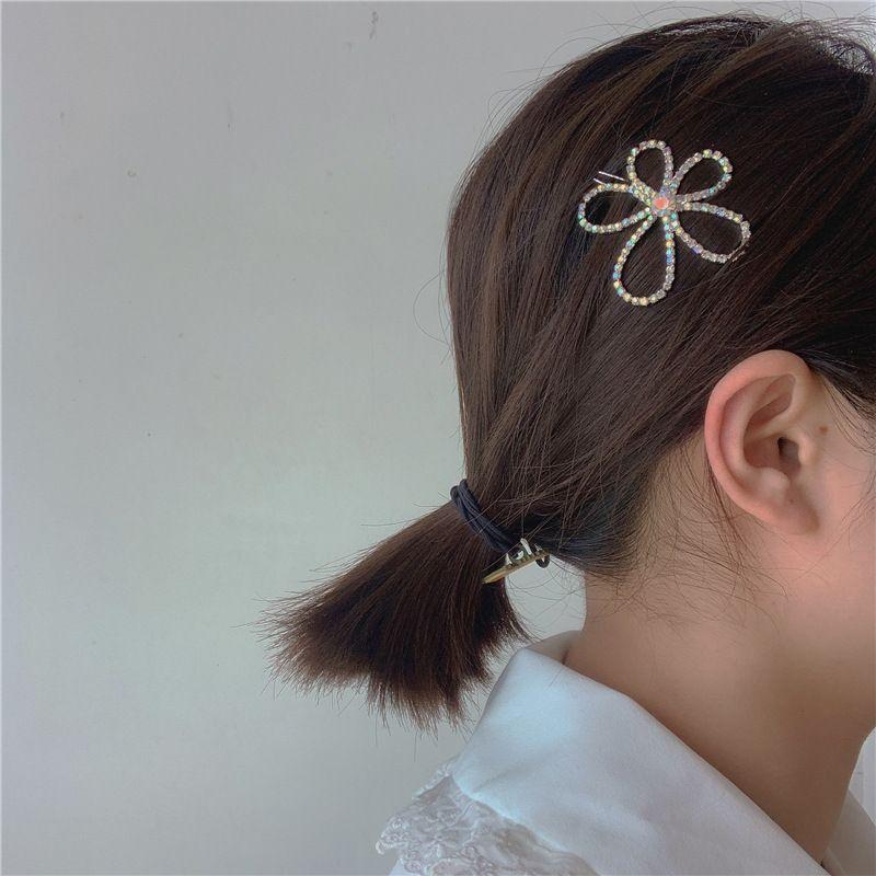 flowers hair clisp retro diamond hairpin side clip hairpin word clip wild simple temperament hair accessories wholesale nihaojewelry NHYQ220180
