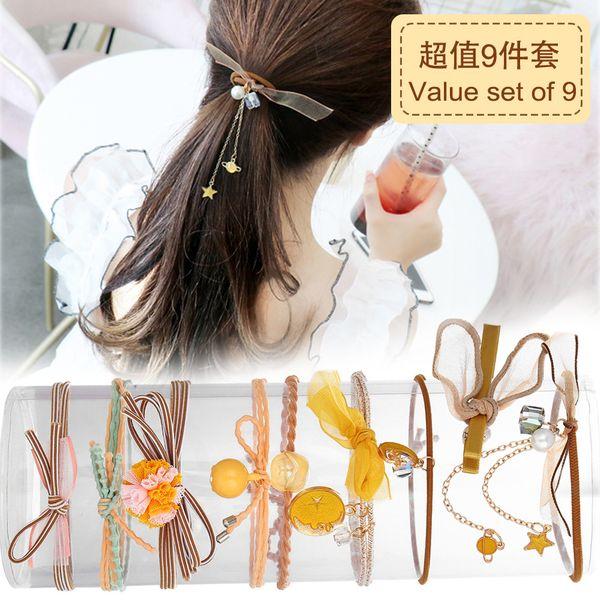 Korean rubber hair scrunchies head rope female hair ring tie hair rope hair jewelry headdress wholesale nihaojewelry NHPJ220209