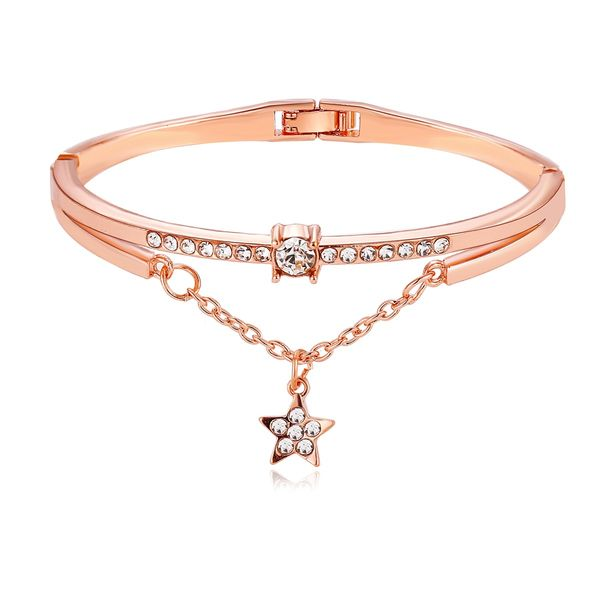 fashion jewelry wish explosion five-pointed star diamond bracelet creative retro Jane bracelet wholesale nihaojewelry NHYI220214
