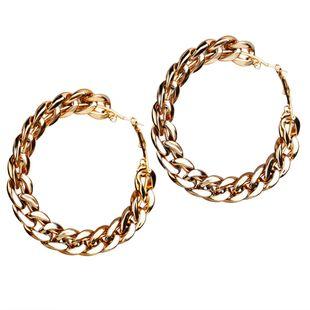 Nuevos pendientes de cadena de viento de gran nombre creativos retro simples pendientes de estilo punk exagerados al por mayor nihaojewelry NHYI220217's discount tags