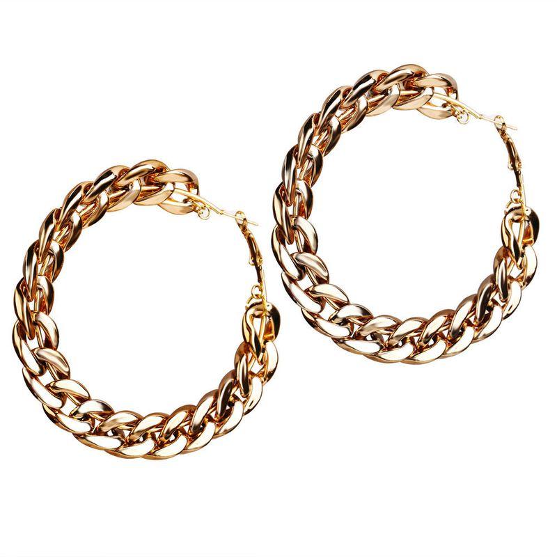 new bigname wind chain earrings creative retro simple exaggerated punk style earrings wholesale nihaojewelry NHYI220217
