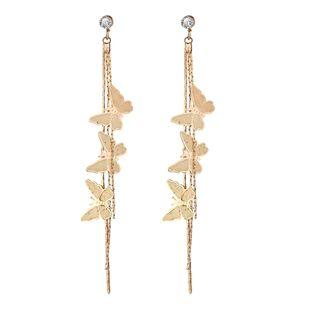 Nuevos pendientes de borla de mariposa Pendientes colgantes de metal de aleación simple retro creativo al por mayor nihaojewelry NHYI220222's discount tags