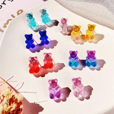 Moda coreana colorido jalea oso color caramelo pendientes pendientes de temperamento simple creativo al por mayor nihaojewelry NHYI220230's discount tags