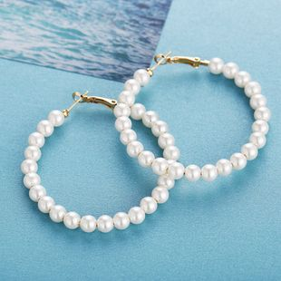 fashion explosion models white full pearl earrings new creative retro simple earrings wholesale nihaojewelry NHYI220231's discount tags