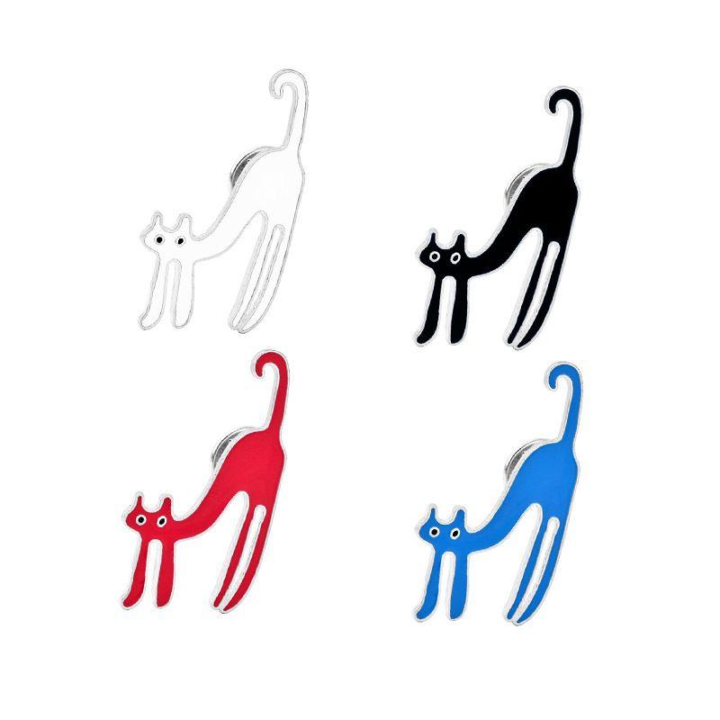 explosion models long legs kitten brooch cartoon cute dumb and cute brooch collar pin bag accessories wholesale nihaojewelry NHMO220253
