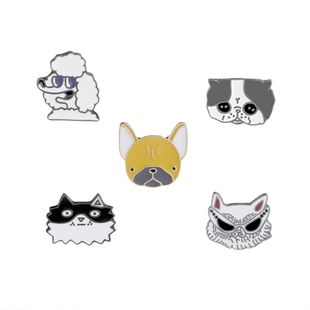 explosion models brooch trend cute cartoon various expressions dogs and cats hot accessories brooch wholesale nihaojewelry NHMO220261's discount tags