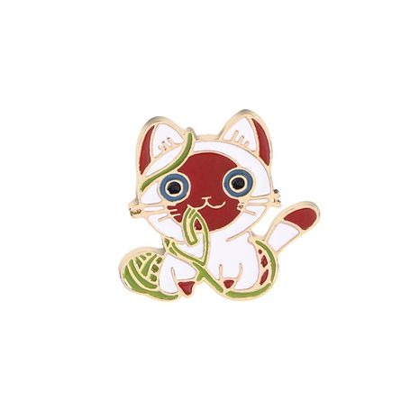 explosion models brooch healing system fashion cartoon cute kitty brooch clothing accessories wholesale nihaojewelry NHMO220264's discount tags