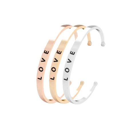 Explosion Bracelet Creative Letter I LOVE YOU Loving Wild Opening Bracelet wholesale nihaojewelry NHMO220269's discount tags