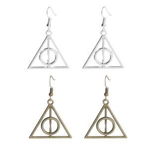 Pendientes de explosión Harry Potter sacrificio de muerte triángulo a triángulo pendientes al por mayor nihaojewelry NHMO220273's discount tags