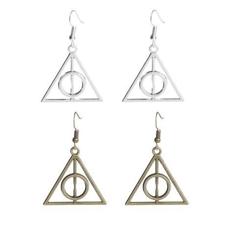 explosion earrings Harry Potter death sacrificial triangle to triangle earrings wholesale nihaojewelry NHMO220273's discount tags
