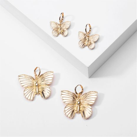 fashion big-name jewelry metal popular butterfly wings earrings earrings ear clips wholesale nihaojewelry NHLU220297's discount tags