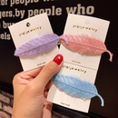 Silver silk embroidery leaves clip cute candy color hairpin girl heart bangs clip hair clip side clip hair accessories wholesale nihaojewelry NHNA220320