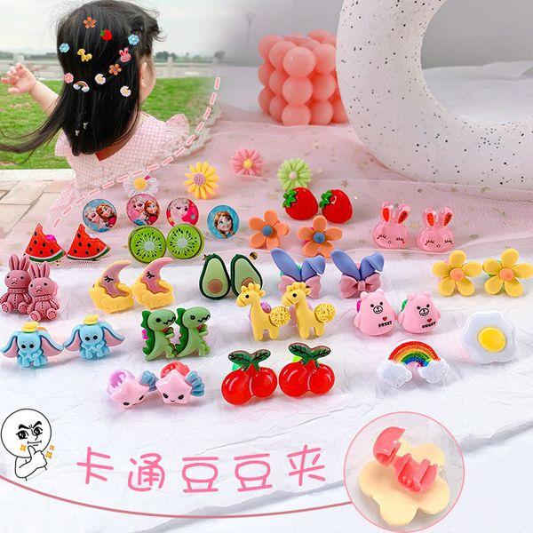 Children's flower headdress Korean girl cute buckle hair clip hair accessories hairpin braided hair clip catch clip wholesale nihaojewelry NHNA220330