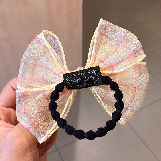 Details about  /Kids Girls School Supplies Bow Hair Ropes Hair Accessories Hair Scrunchies