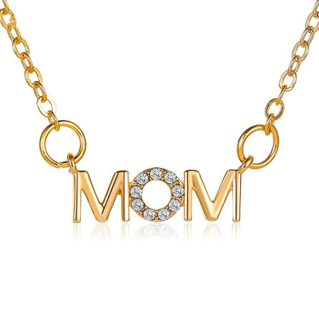 Mother's Day Necklace Simple Wild English Alphabet Necklace Mom Pendant Clavicle Chain Creative Holiday Gift wholesale nihaojewelry NHDP219993's discount tags