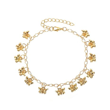 new footwear fashion small fresh butterfly anklet female ins wind wild metal butterfly pendant anklet wholesale NHDP220005's discount tags