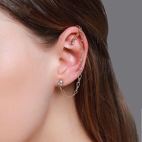 new earrings personality simple earrings ear clip integrated earrings long earrings wholesale nihaojewelry NHDP220007's discount tags
