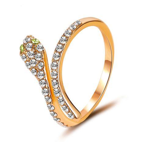 Best-seller bijoux à la main tempérament flash diamant plein diamant serpent anneau délicat zircon anneau ouvert explosion accessoires en gros nihaojewelry NHDP220012's discount tags