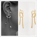 new tide earrings exaggerated personality design gold retro long ear clips pierced ears wholesale nihaojewelry NHYQ220350