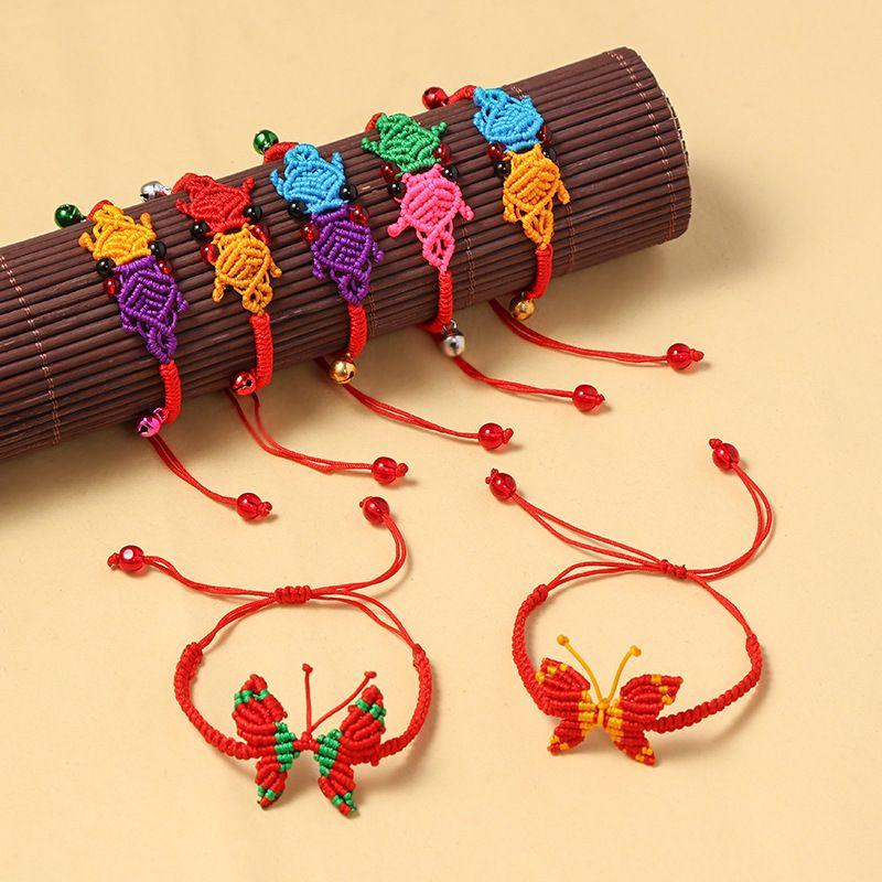 festival bracelet handwoven colorful red rope gift natal year transfer beads dumplings bracelet wholesale nihaojewelry NHNA220311