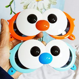 Fashion trend new cute big eyes clamshell decorative sunglasses sesame street silicone material cartoon sunglasses wholesale nihaojewelry NHBA220362's discount tags