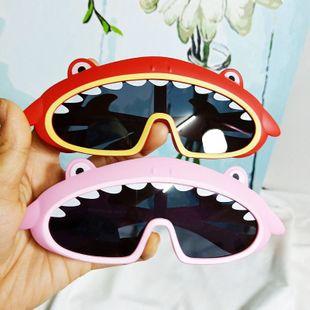 Tendencia de moda Corea Tiburón Ballena Gafas de sol para bebé Silicona Un marco grande Decoración cómoda Gafas de sol al por mayor nihaojewelry NHBA220363's discount tags