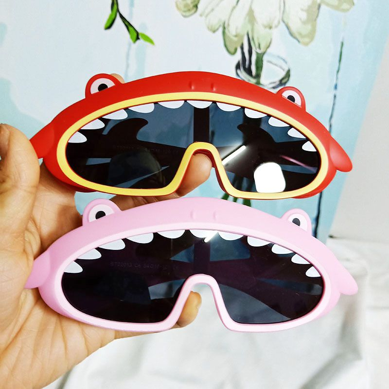 Fashion Trend Korean Shark Whale Baby Sunglasses Silicone One Large Frame Comfortable Decoration Sunglasses wholesale nihaojewelry NHBA220363