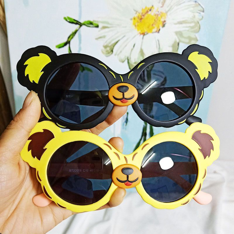 New cartoon koala silicone polarized sunglasses children baby boys and girls glasses UV protection sunglasses wholesale nihaojewelry NHBA220364