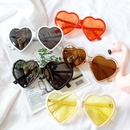 new Korean fashion wild sunglasses cute sunglasses peach heart love glasses tide wholesale nihaojewelry NHBA220376
