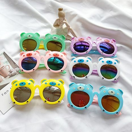 New cartoon bear fashion cartoon sunglasses baby children boys and girls glasses UV protection sunglasses wholesale nihaojewelry NHBA220381's discount tags