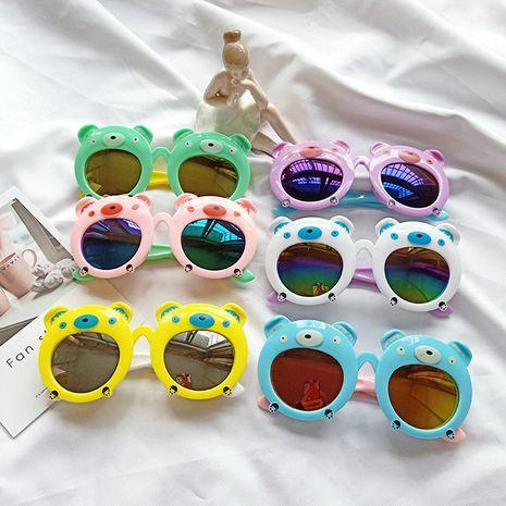 New cartoon bear fashion cartoon sunglasses baby children boys and girls glasses UV protection sunglasses wholesale nihaojewelry NHBA220381's discount tags