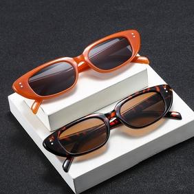 new trend meter nail narrow frame sunglasses hip-hop catwalk metal hinge mesh red sunglasses wholesale nihaojewelry NHBA220394