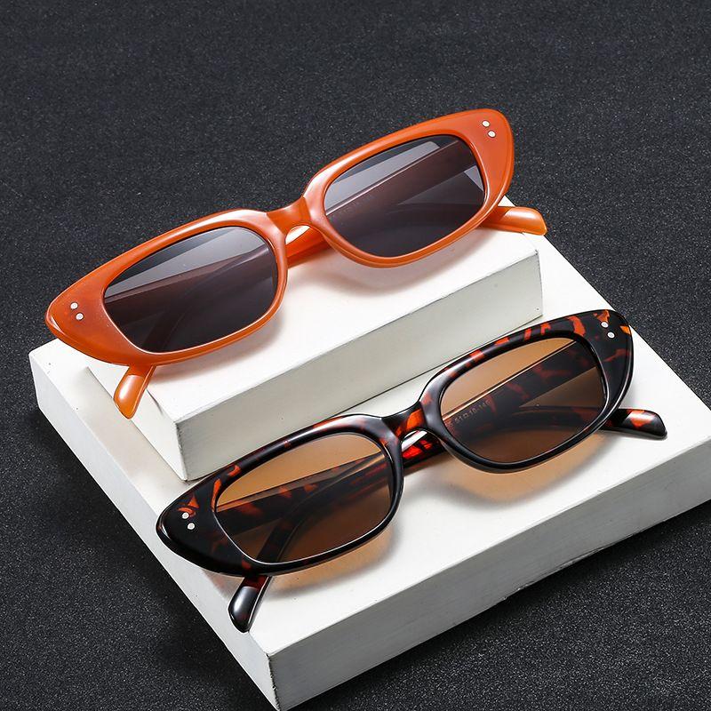 new trend meter nail narrow frame sunglasses hiphop catwalk metal hinge mesh red sunglasses wholesale nihaojewelry NHBA220394