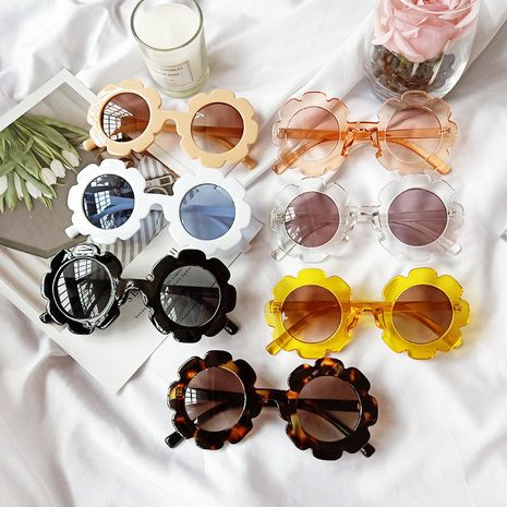 Korean fashion trendy children's small flowers sunglasses fashion baby cute models sunglasses glasses boys and girls personality sunglasses wholesale nihaojewelry NHBA220402's discount tags