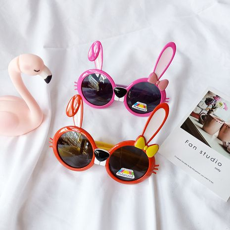 Children polarized sunglasses long ears rabbit cartoon shape baby anti-UV sunglasses boys and girls wholesale nihaojewelry NHBA220406's discount tags