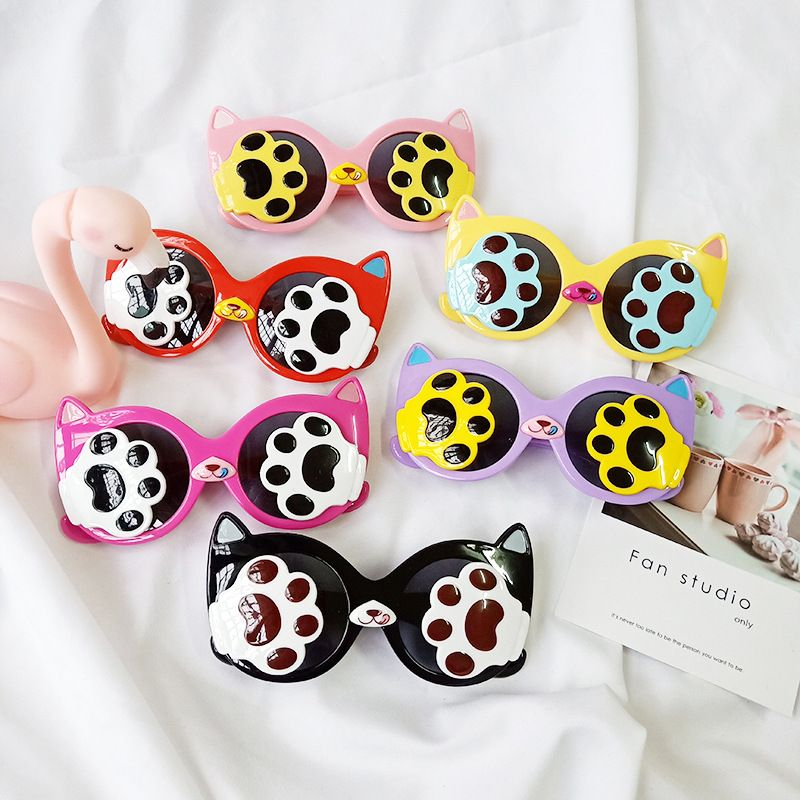 Childrens clamshell fashion polarized sunglasses new cartoon cat UV protection sunshade sunglasses wholesale nihaojewelry NHBA220408