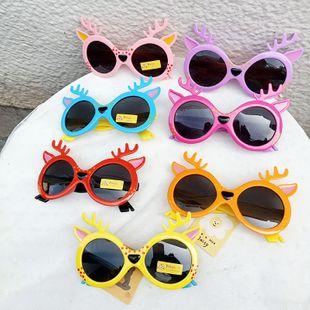 Nuevos ciervos bambi gafas de sol para niños gafas de sol para bebés gafas de dibujos animados de moda gafas de sol para niños al por mayor nihaojewelry NHBA220409's discount tags