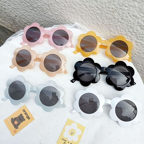 Baby flower sunglasses children decoration sunglasses tide cute young children sun glasses  wholesale nihaojewelry NHBA220412's discount tags