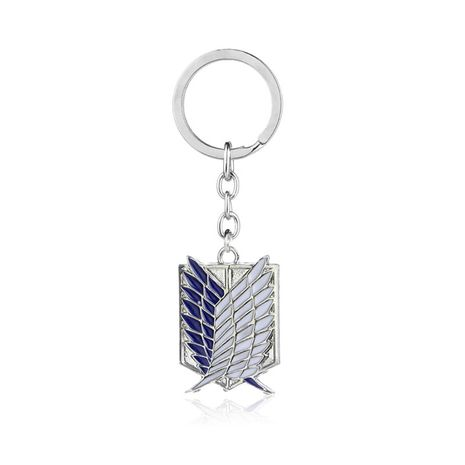 Explosion Keychain Anime Attacking Giant Investigation Corps Free Wings Logo Keychain Small Pendant wholesale nihaojewelry NHMO220426's discount tags