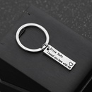 Fashion explosion keychain letters drive safe i needyouhere safe driving keychain accessories wholesale nihaojewelry NHMO220428