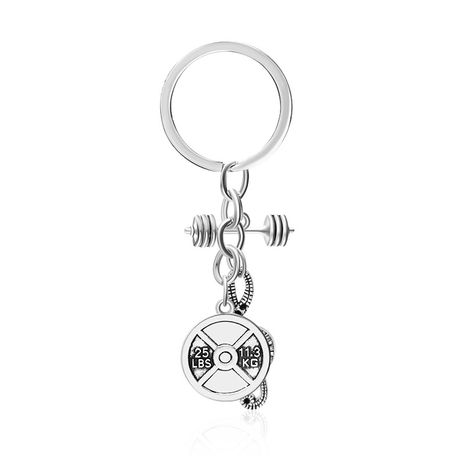 explosion keychain street fitness dumbbell note pendant keychain pendant accessories wholesale nihaojewelry NHMO220437's discount tags