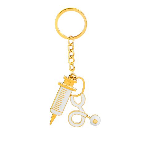 Fashion explosion key chain Dr. Mystery syringe stethoscope creative personality key chain small pendant wholesale nihaojewelry NHMO220452's discount tags