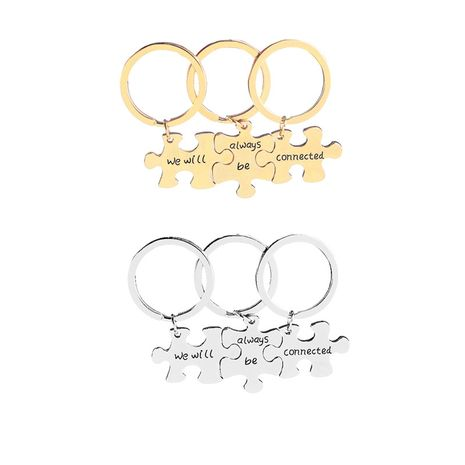 New keychain  good friend good sister personality keychain we will aelways be connected wholesale nihaojewelry NHMO220458's discount tags