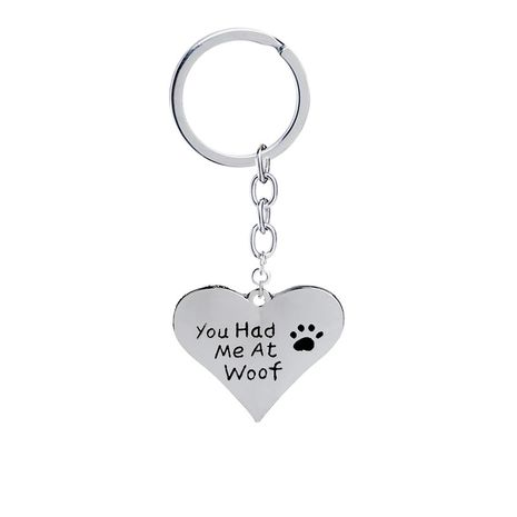 Explosion Keychain English You had me at woof Cute Loving Dog Claw Keychain Accessories wholesale nihaojewelry NHMO220465's discount tags