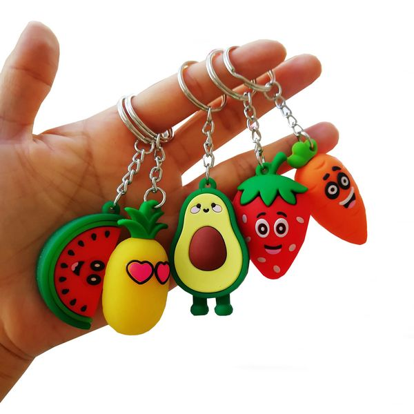 girl heart simulation 3D avocado keychain schoolbag coin purse PVC soft toy pendant special offer wholesale nihaojewelry NHDI220475