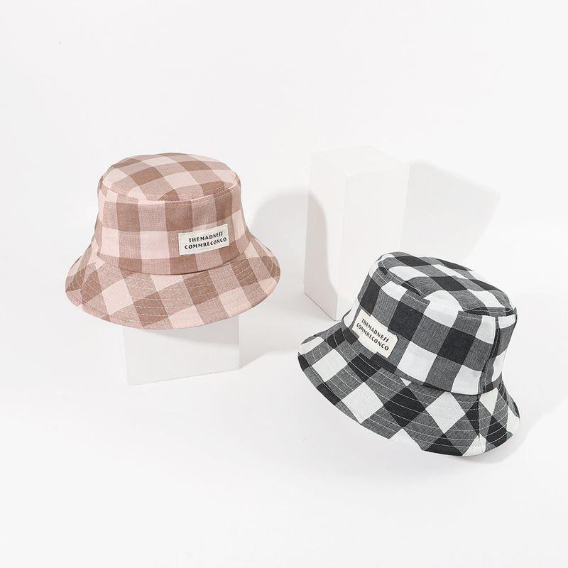 Sun hat summer sun protection sun hat Korean fashion the Japanese wild lattice trend travel cover fisherman hat wholesale nihaojewelry NHTQ220520