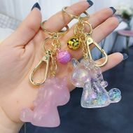 Korean fashion dream unicorn keychain acrylic three-dimensional doll car key chain girl bag pendant wholesale nihaojewelry NHBM220546